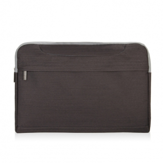 VN Polyester Lightweight 14-inch Laptop Bags Tablet Briefcase (Dark Brown)